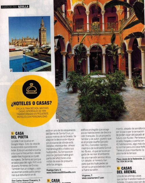 Hoteles con encanto en sevilla según la revista renfe