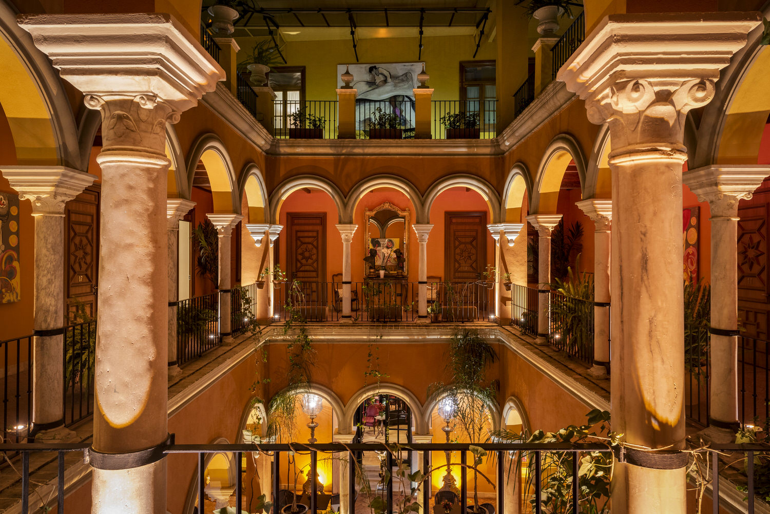 Patio de hotel boutique Sevilla